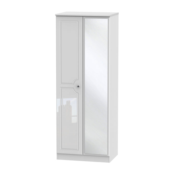 Balmoral 2 Door Tall Mirror Wardrobe