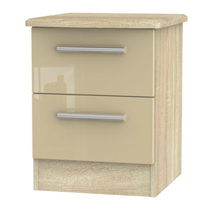 Knightsbridge 2 Drawer Bedside Cabinet