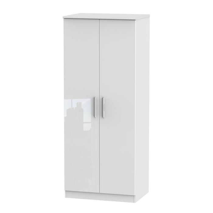 Knightsbridge 2ft 6in Plain Tall Plain Wardrobe
