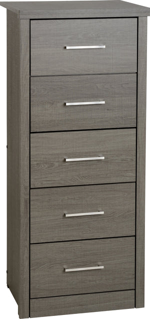 Lisbon 5 Drawer Narrow Chest
