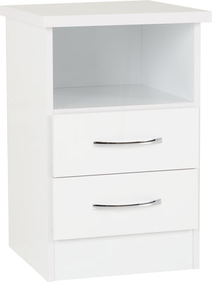Nevada 2 Drawer Bedside