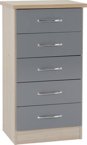 Nevada 5 Drawer Narrow Chest