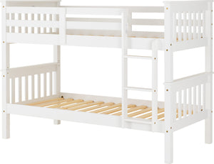 The 'Naples' White or Pine Bunk Bed