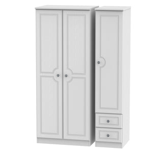 Pembroke 3 Door 2 Drawer Plain Wardrobe