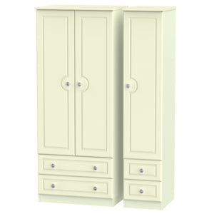 Pembroke 3 Door 4 Drawer Wardrobe