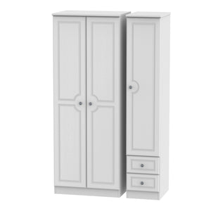 Pembroke 3 Door 2 Right Drawer Tall Plain Wardrobe
