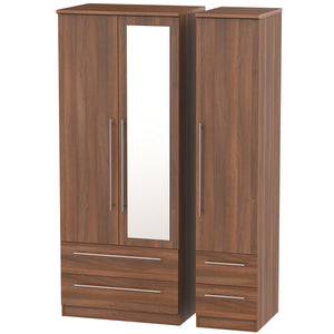 Sherwood 3 Door 4 Drawer Combi Wardrobe