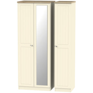 Vienna 3 Door Tall Mirror Wardrobe