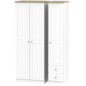 Vienna 3 Door 2 Left Drawer Tall Wardrobe