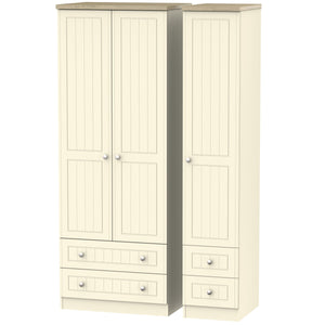 Vienna 3 Door 4 Drawer Tall Wardrobe
