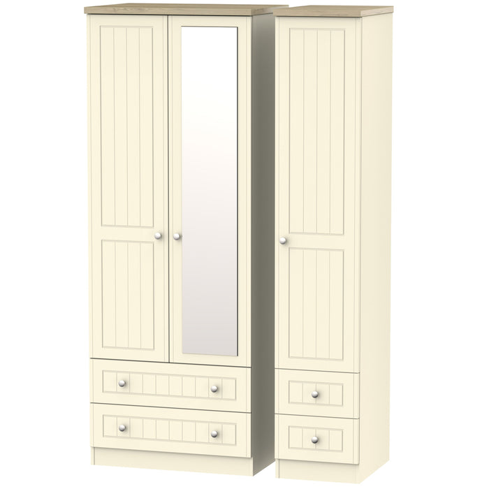 Vienna 3 Door 4 Drawer Tall Combi Wardrobe