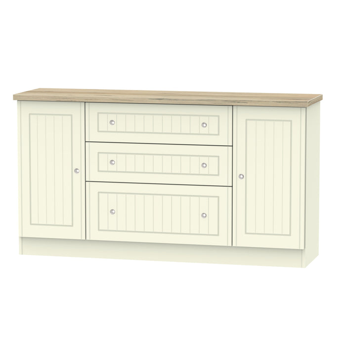 Vienna 2 Door 3 Drawer Wide Sideboard