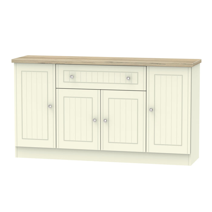 Vienna 4 Door 1 Drawer Wide Sideboard