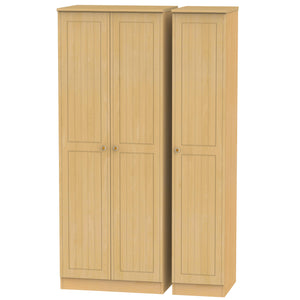 Warwick 3 Door Tall Plain Wardrobe