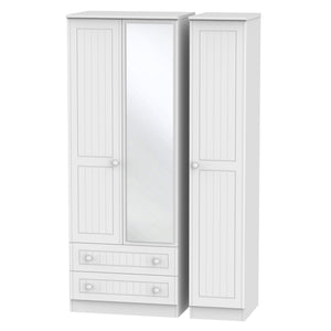Warwick 3 Door 2 Left Drawer Tall Mirror Wardrobe