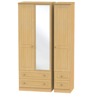 Warwick 3 Door 2 Right Drawer Tall Mirror Wardrobe