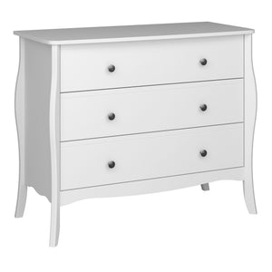 Florence 3 Drawer Wide Chest of Drawers