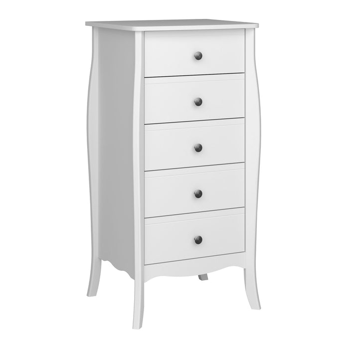 Florence 5 Drawer Narrow Chest of Drawers