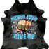 Never Ever Ever Give Up - Charcoal Grey Black Spotted