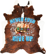 Never Ever Ever Give Up - Brown White Exotic Brindle