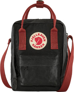 Sling Cross Body Bag Black/ Ox red