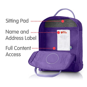 7L/Mini BackPack Brand School Bag Travel Purple/Violet