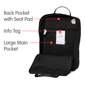 "18L Laptop 15"" Backpack for Everyday, Black"