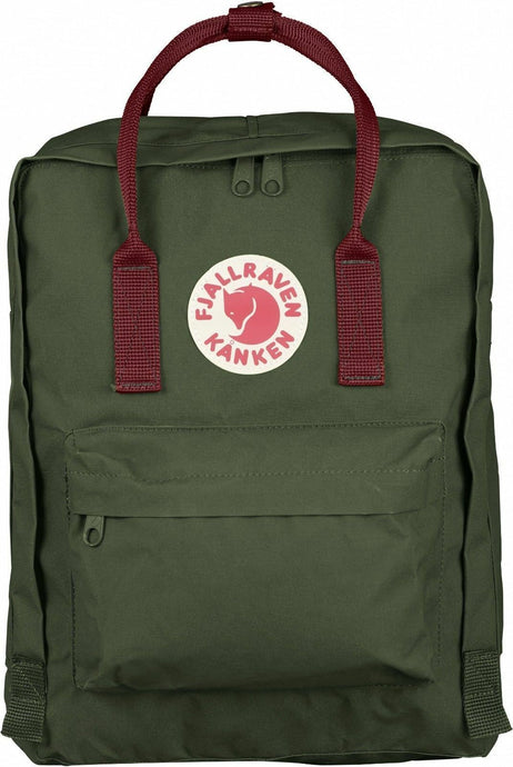 16L/Classic BackPack Bag Travel Green Ox Red