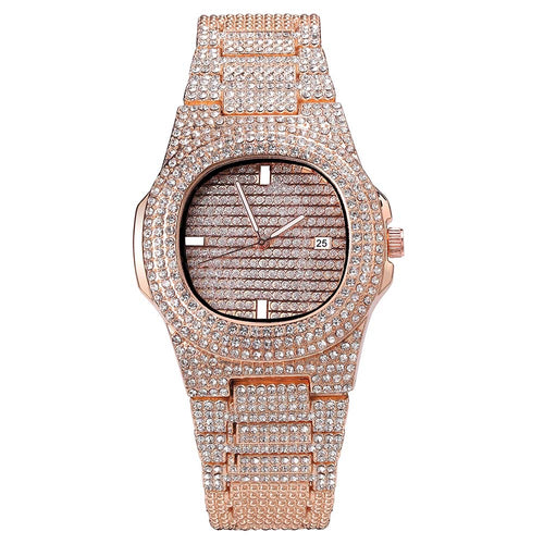 Oblong 18K Micropave  - Men's Watch - HANDS OV CHRONOS