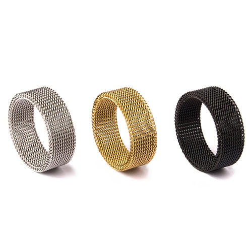 Steel Mesh Ring - Men's Ring - HANDS OV CHRONOS