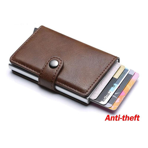 Leather Auto Card Holder - Men's Wallet - HANDS OV CHRONOS