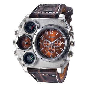 Large Industrial Gauge Watch - Men's Watch by Oulm - HANDS OV CHRONOS