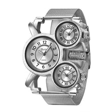 Load image into Gallery viewer, Three Dial Steamer - Men's Watch by Oulm - HANDS OV CHRONOS