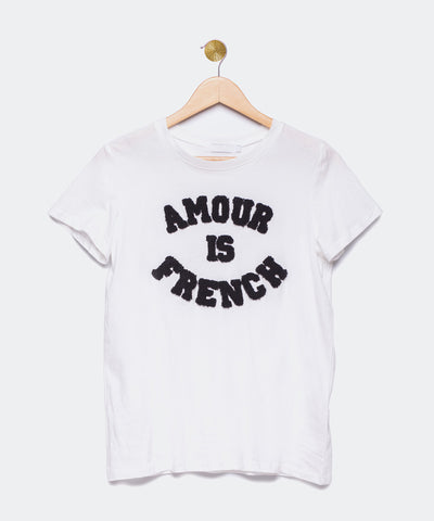 "Camiseta blanca ""Amour is French"""