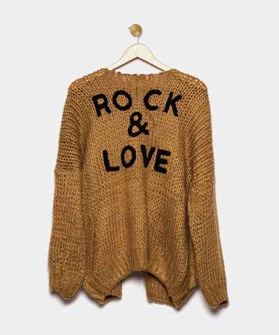 "Cardigan marrón oscuro ""Rock and Love"""