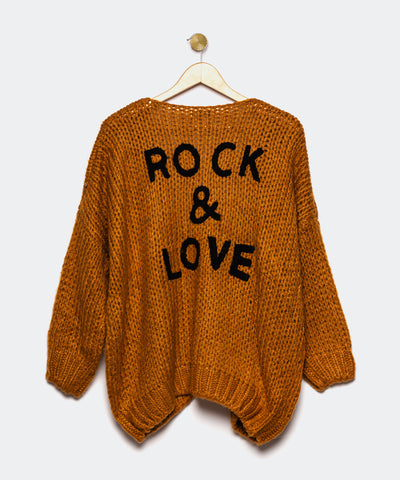 "Cardigan marrón ""Rock and Love"""