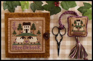 Wool Needlebook and Scissor fob