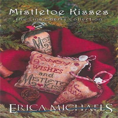 Linen Berry Collection Mistletoe Kisses by Erica Michael