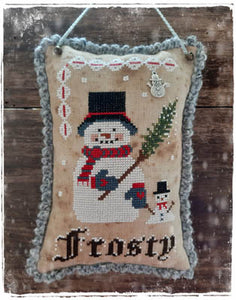 Frosty -Christmas tree ornament #2 by Fairy Wool in the Wood