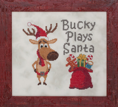 Bucky Plays Santa by Glendon Place