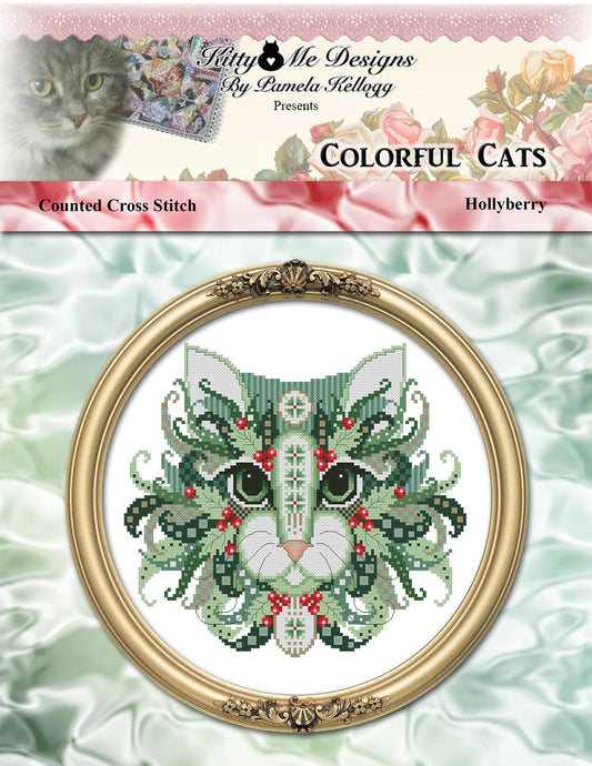Hollyberry Cat by Kitty & Me Designs