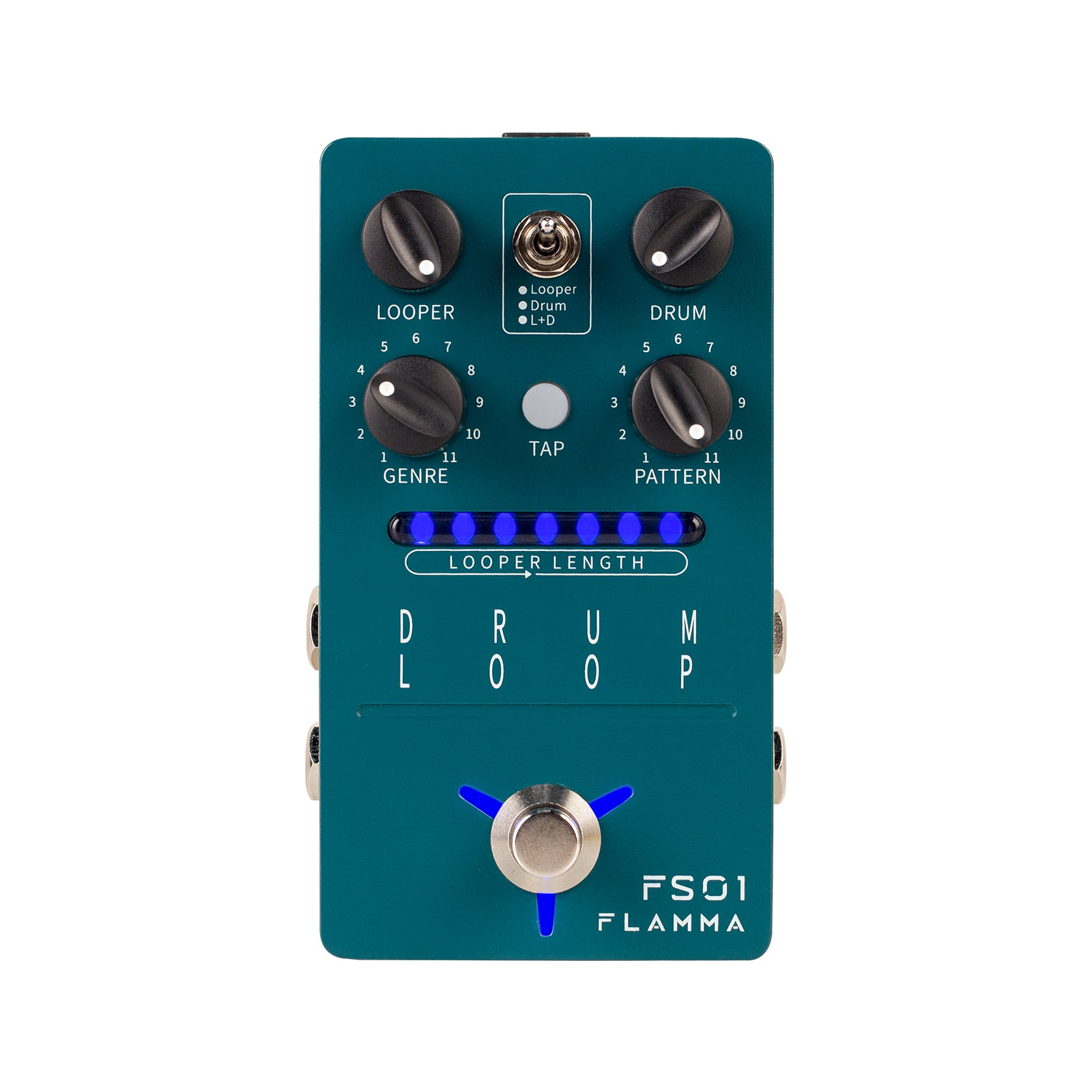 FLAMMA FS01 Drum Machine & Phrase Loop Pedal with 11 Groove Styles and 20 min Loopers