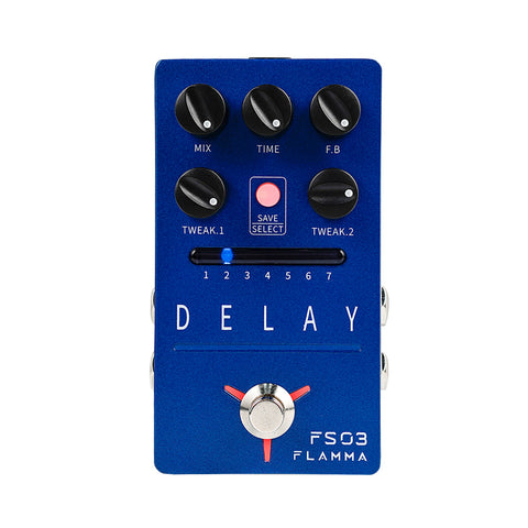 FLAMMA FS03 Stereo Delay Guitar Effects Pedal with 80-second Looper