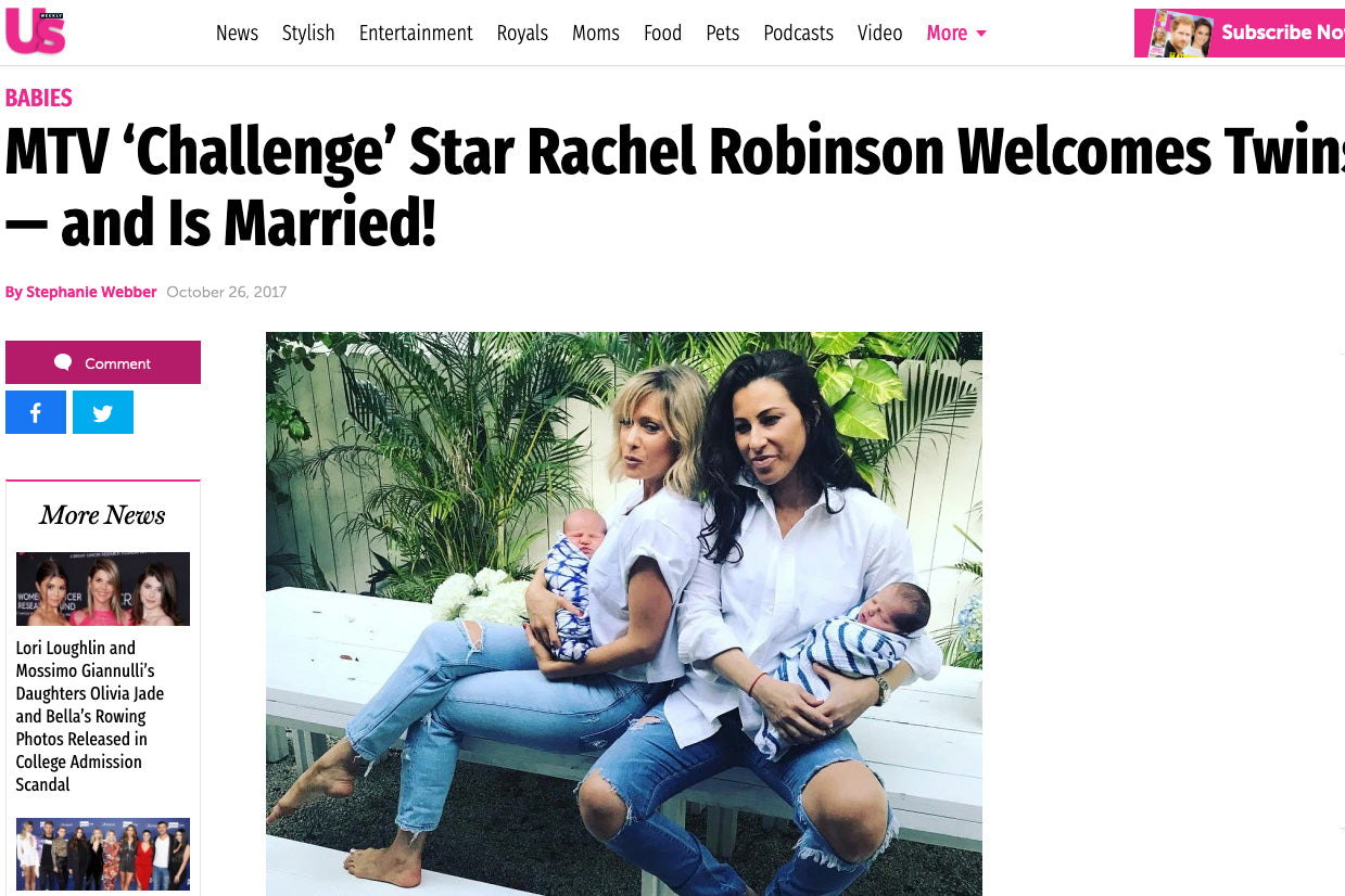 US Weekly: MTV 'Challenge' Star Rachel Robinson Welcomes Twins — and Is Married!