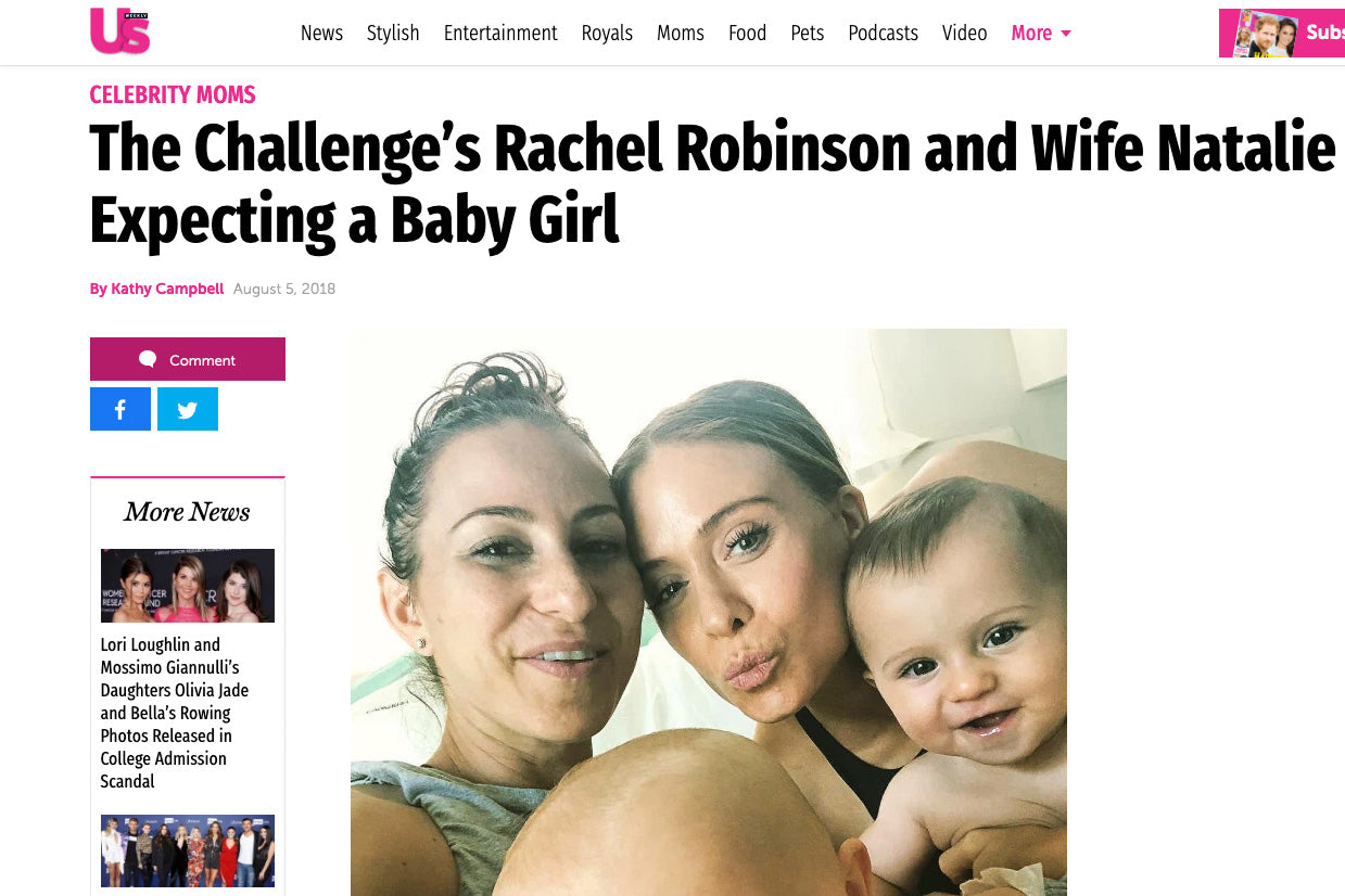US Weekly: The Challenge's Rachel Robinson and Wife Natalie Gee Expecting a Baby Girl