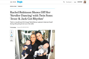 People: Rachel Robinson Shows Off Her 'Stroller Dancing' with Twin Sons: 'Jesse & Jack Got Rhythm'