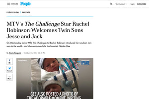 People: MTV's The Challenge Star Rachel Robinson Welcomes Twin Sons Jesse and Jack