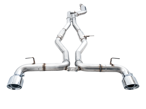 AWE TRACK EDITION EXHAUST FOR A90 SUPRA - Non-Resonated Touring Edition Exhaust - 5in Black Tips