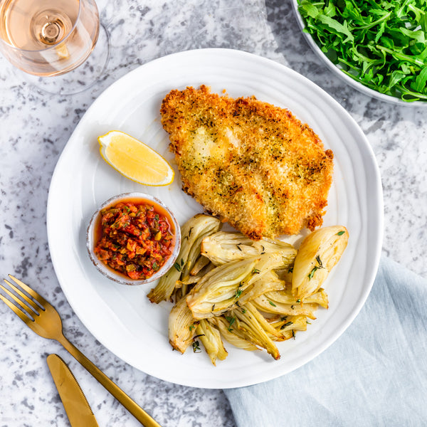 Breaded Chicken with Fennel
