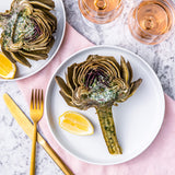 Artichoke with garlic butter
